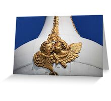pair of golden angels Greeting Card