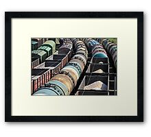 rail freight Framed Print