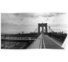 Black White New York Brooklyn Bridge nr 2 Poster
