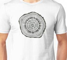 Paper Birch – Black Tree Rings Unisex T-Shirt
