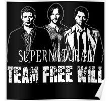Supernatural Team Free Will B Poster
