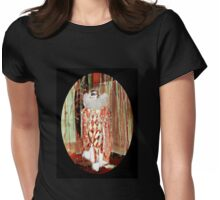 Starlet in a Harlequin Costume Womens Fitted T-Shirt