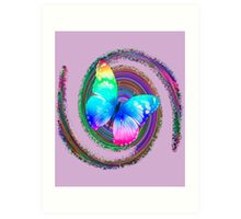 Butterfly Desing Graphic Multicolor Art Print