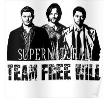Supernatural Team Free Will W Poster