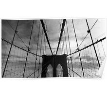 Black White New York Brooklyn Bridge nr 4 Poster