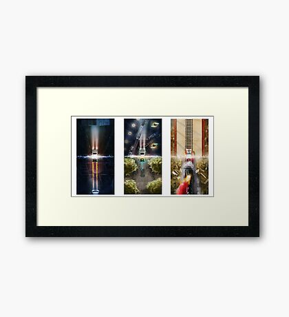 Back to the future poster Framed Print