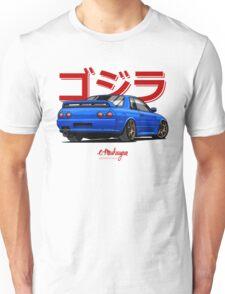 Nissan Skyline GTR R32 (blue) Unisex T-Shirt