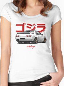 Nissan Skyline GTR R32 (white) Women's Fitted Scoop T-Shirt