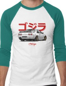 Nissan Skyline GTR R32 (white) Men's Baseball ¾ T-Shirt