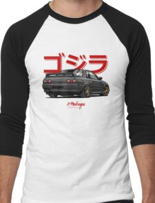Nissan Skyline GTR R32 (black) Men's Baseball ¾ T-Shirt