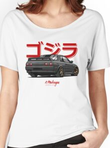 Nissan Skyline GTR R32 (black) Women's Relaxed Fit T-Shirt