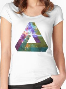 God's Impossible Triangle V1   MXTHEMATIX Women's Fitted Scoop T-Shirt