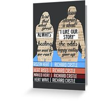 caskett Greeting Card