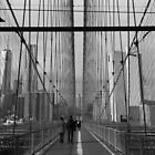 Black White New York Brooklyn Bridge nr 5 by silvianeto