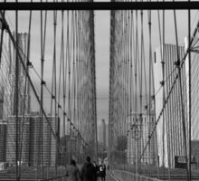 Black White New York Brooklyn Bridge nr 5 Sticker