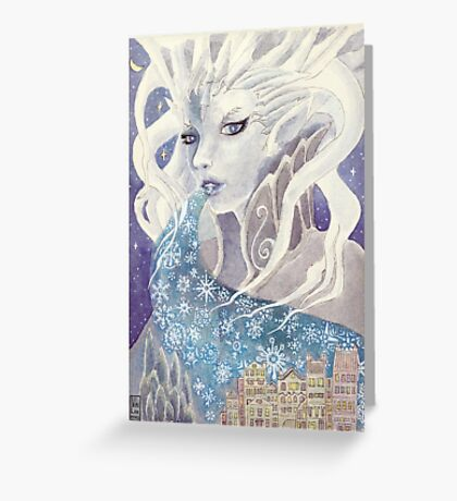 Lady Frost Greeting Card