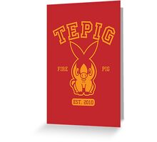 Tepig - College Style Greeting Card