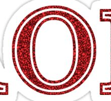 Alpha Omicron Pi- Sparkly Ruby Red Sticker