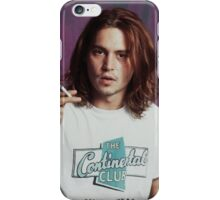 Johnny Depp - Halftone Series iPhone Case/Skin