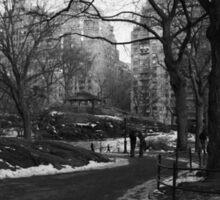 Black White NY Central Park Nr 2 Sticker