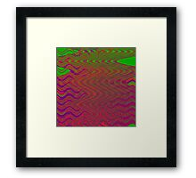 TIME AND SPACE DESOLVING IN THE ELEVENTH UNIVERSE Framed Print