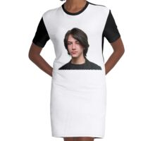 Keanu Reeves Bust Graphic T-Shirt Dress