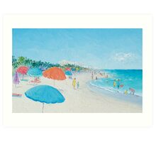 Hollywood Beach, Florida - beach painting Art Print
