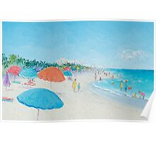 Hollywood Beach, Florida - beach painting Poster