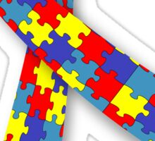 Autism Awareness Ribbon Autistic Puzzle Teacher Daughter Son Parent Mom Dad Grandparent Friend Sticker