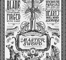 Legend of Zelda Master Sword Advertisement by barrettbiggers