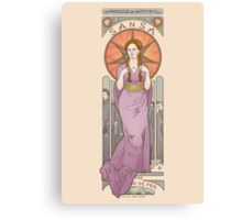 The princess of Winterfell Canvas Print