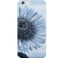 Cyanotype Aster with Textures iPhone Case/Skin