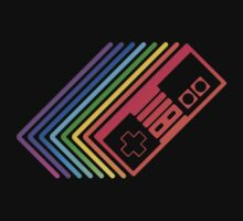 NES Controller Rainbow by mrbrownjeremy
