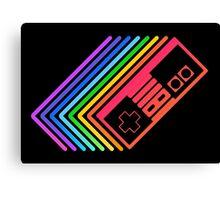 NES Controller Rainbow Canvas Print