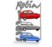 Reliant Robin evolution Greeting Card