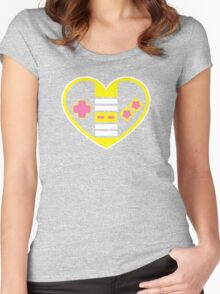 Retragamer - NES Controller Heart Women's Fitted Scoop T-Shirt