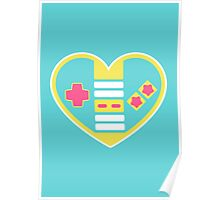 Retragamer - NES Controller Heart Poster