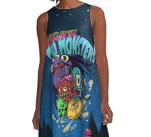 ATTACK OF THE MOMONSTERS A-Line Dress