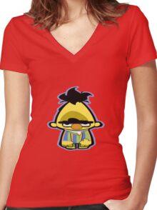 Sesame Women's Fitted V-Neck T-Shirt