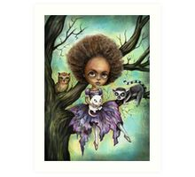 Cynthia and Critters Art Print