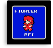 Fighter (Final Fantasy 1 Style) Canvas Print