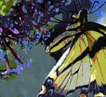Eastern Tiger Swallowtail on a Butterfly Bush Sticker