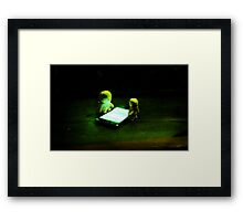 Green Glow Gathering Framed Print