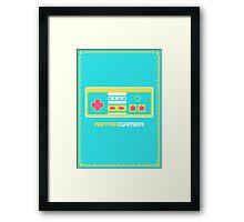 Retra Gamer - NES Controller Framed Print