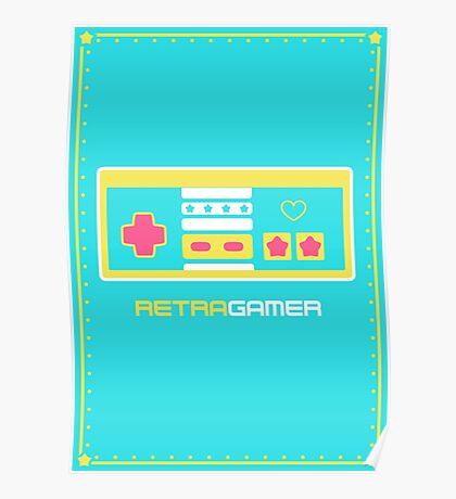 Retra Gamer - NES Controller Poster
