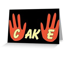 Cake (Cartoon Style) Greeting Card