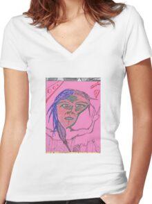 barrell Women's Fitted V-Neck T-Shirt
