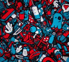cartoon abstract Sticker