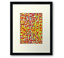 one point colour warp Framed Print
