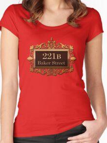 221b Baker st. Women's Fitted Scoop T-Shirt